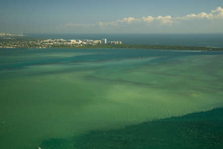 Aerial view of the Atlantic ocean, Miami, Florida, USA photo