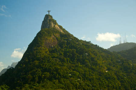 Christ The Redeemer on top of the Corcovado Mountain, Rio De Janeiro, Brazil