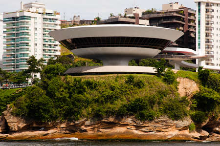 rio: Contemporary Museum of Art in the city of Niteroi, state of Rio de Janeiro, Brazil Editorial