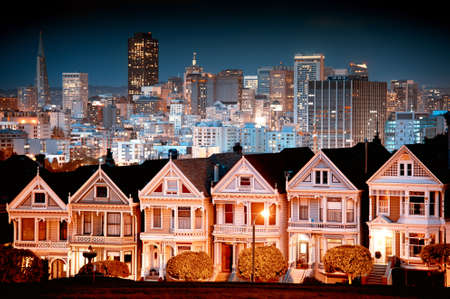 Urban landscape composite of San Francisco. Stock Photo
