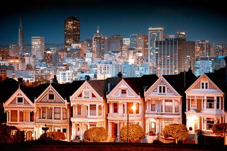 Urban landscape composite of San Francisco. 版權商用圖片