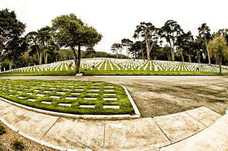 national military cemetery: San Francisco National Military Cemetery, in San Francisco, CA, USA. Stock Photo