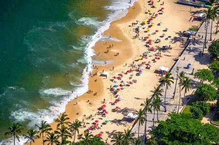 incidental people: Aerial view of a beach, Urca, Rio de Janeiro, Brazil