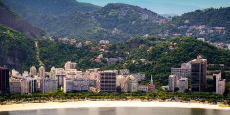 beach front: Aerial view of buildings on the beach front, Botafogo, Guanabara Bay, Rio De Janeiro, Brazil