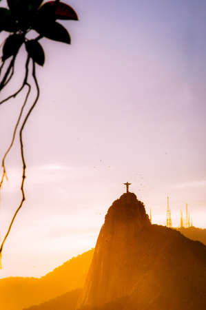 Christ the Redeemer statue on top of Corcovado, Rio de Janeiro, Brazil Stock Photo - 21577734