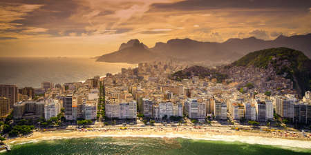 Buildings at the waterfront, Copacabana Beach, Rio de Janeiro, Brazil