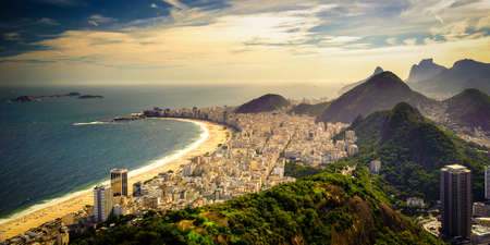 Buildings at the waterfront, Copacabana Beach, Rio de Janeiro, Brazil