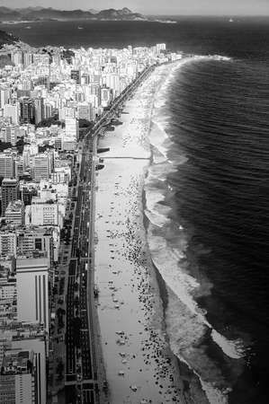 nature photography: Aerial view of buildings on the beach front, Ipanema Beach, Rio De Janeiro, Brazil
