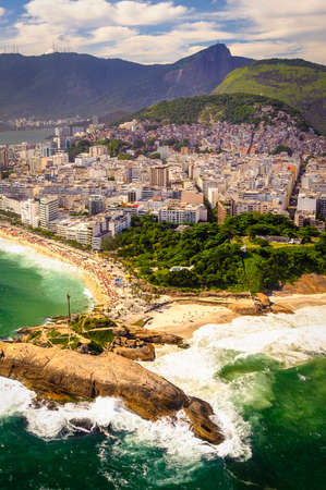Aerial view of buildings on the beach front, Ipanema Beach, Rio De Janeiro, Brazil