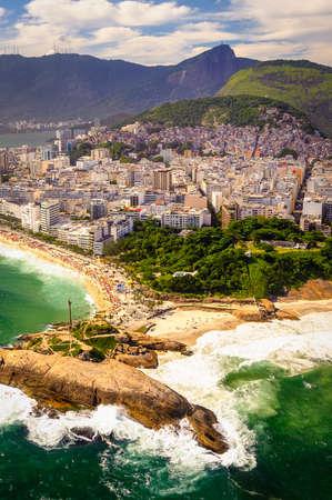 Aerial view of buildings on the beach front, Ipanema Beach, Rio De Janeiro, Brazil