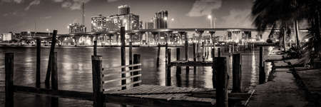 Pier over the Atlantic ocean, Miami, Miami-Dade County, Florida, USA
