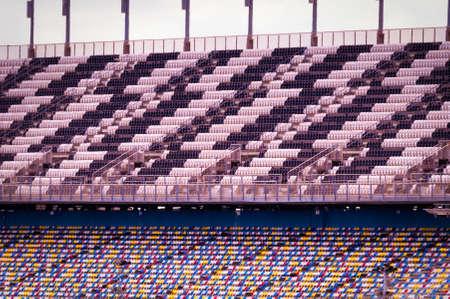 Empty seats in a stadium, Daytona International Speedway, Daytona Beach, Florida, USA photo