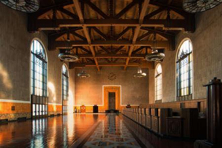 Interiors of the Union Station, Los Angeles, California, USA