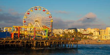 santa monica: Ferris wheel on a pier, Santa Monica Pier, Santa Monica, Los Angeles County, California, USA Editorial
