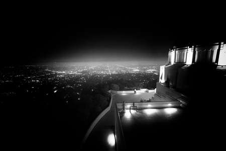 griffith: City viewed from an observatory, Griffith Observatory, Los Angeles, California, USA
