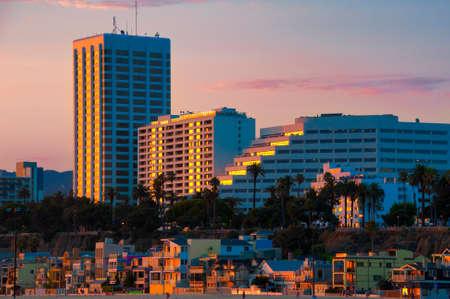 Buildings in a city, Santa Monica, Los Angeles County, California, USA