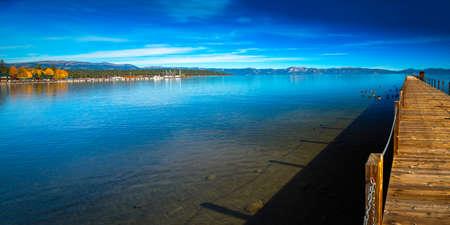 nature photography: Pier in a lake, Tahoe City, Lake Tahoe, California, USA