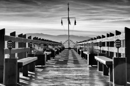 Pier on a lake, Carnelian Bay, Lake Tahoe, California, USA photo