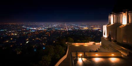 市は、展望台、グリフィス天文台、ロサンゼルス、カリフォルニア州から見た