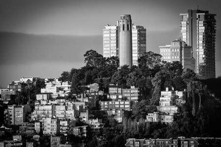 telegraph hill: Coit Tower on Telegraph Hill in San Francisco, California, USA
