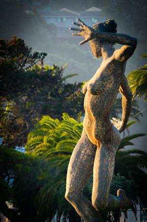schateiland: weergave van een standbeeld in Treasure Island, San Francisco, California, USA