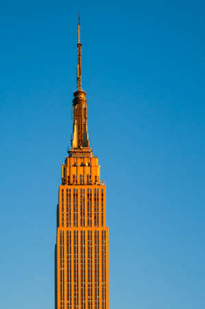 Low angle view of a building, Empire State Building, New York City, New York State, USA Editorial