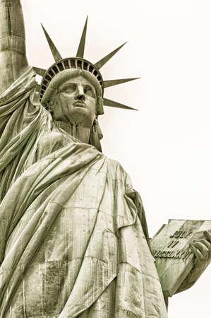 liberty island: Statua della Libert� a Liberty Island, New York, Stati Uniti d'America Archivio Fotografico