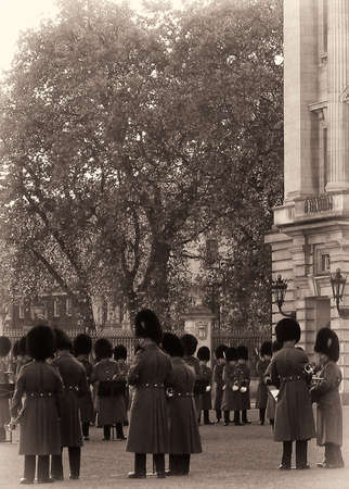 Changing of the Guard ceremony, Buckingham Palace, City Of Westminster, London, England