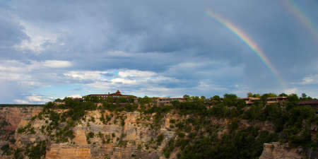Rainbow over a canyon, Grand Canyon, Grand Canyon National Park, Arizona, USA photo