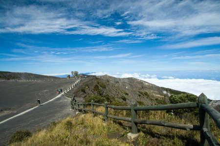 Surroundings of the Irazu volcano crater, Irazu Volcano National Park, Costa Rica Standard-Bild
