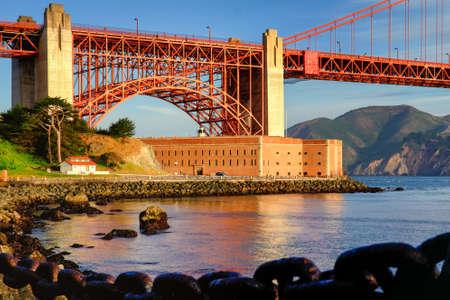 View of the Golden Gate Bridge, San Francisco, California, USA Standard-Bild