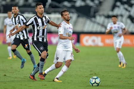 Rio, Brazil - november 04, 2017: Gustavo Scarpa player in match between Botafogo and  Fluminense by the Brazilian Championship in Nilton Santos Stadium