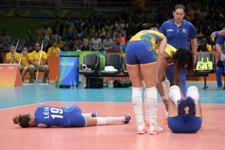 Rio, Brazil - august 06, 2016: HENRIQUE da SILVA NICOLOSI (BRA) during volleyball game Brazil (BRA) vs Korea (KOR) in maracanazinho in the Olympics Rio 2016 by the group phase
