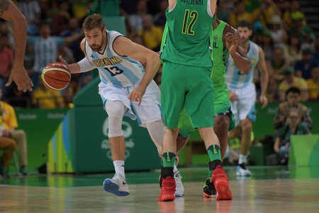 Rio, Brazil - august 13, 2016: NOCIONI Andres (ARG) during basketball game Brazil (BRA) vs Argentina (ARG) in Arena Carioca 1 in the Olympics Rio 2016