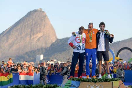 리오 데 자네이, 브라질 - 2016 년 8 월 14 일 : 리오 데 자네이로, 2016 년 : 리오 데 자네이루, 2016 년 : 리오 데 자네이루, 2016 년 : 리오 데 자네이로 (Nied) 금