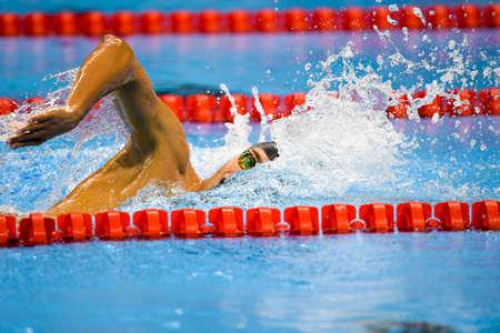 Rio de Janeiro, Brazil - august 13, 2016: WILIMOVSKY Jordan (USA) during mens 1500 metre swimming  freestyle of the Rio 2016 Olympics Games Rio 2016 Editorial