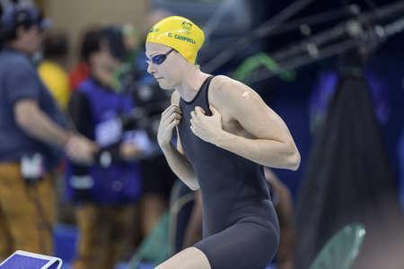 piscina olimpica: Río de Janeiro, Brasil - 13 de agosto de 2016: Cate CAMPBELL (AUS) durante el estilo libre de natación de 50 metros de las mujeres de los Juegos Olímpicos Rio 2016 Rio 2016 Editorial