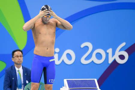 Rio de Janeiro, Brazil - august 13, 2016: DETTI Gabriele (ITA) during mens 1500 metre swimming  freestyle of the Rio 2016 Olympics Games Rio 2016