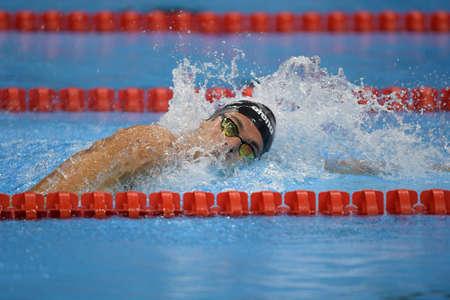 Rio de Janeiro, Brazil - august 13, 2016: PALTRINIERI Gregorio (ITA) during mens 1500 metre swimming  freestyle of the Rio 2016 Olympics Games Rio 2016