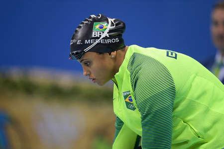 Rio de Janeiro, Brazil - august 13, 2016: Etiene MEDEIROS (BRA) during Womens 50 metre freestyle of the Rio 2016 Olympics Editorial