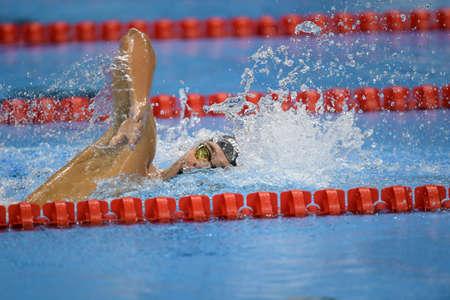 piscina olimpica: Rio de Janeiro, Brazil - august 13, 2016: PALTRINIERI Gregorio (ITA) during mens 1500 metre swimming  freestyle of the Rio 2016 Olympics Games Rio 2016