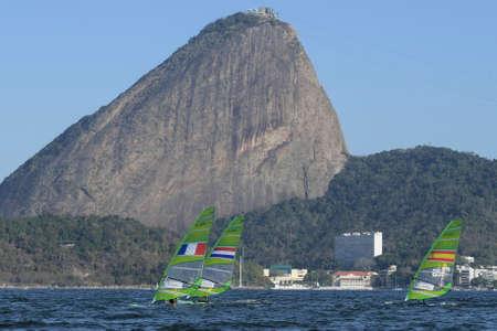 piscina olimpica: Rio de Janeiro, Brazil - august 14, 2016: MARINA ALABAU NEIRA (ESP) during Womens rs-x medley relay of the Rio 2016 Olympics Games
