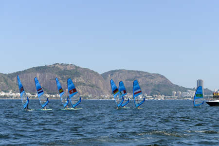 Rio de Janeiro, Brazil - august 14, 2016: Chun Leung Michael Cheng (HKG) during Mens rs-x medley relay of the Rio 2016 Olympics Games