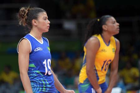 Rio de Janeiro, Brazil - august 14, 2016: HENRIQUE da SILVA NICOLOSI (BRA) during volleyball game  Brazil (BRA) vs Russia (RUS) in maracanazinho in the Olympics Games Rio 2016