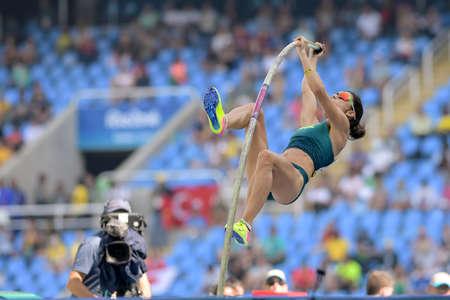 Rio de Janeiro, Brazil - august 16, 2016: COSTA Joana (BRA) during Womens´s Pole Vault in the Rio 2016 Olympics Games Editöryel