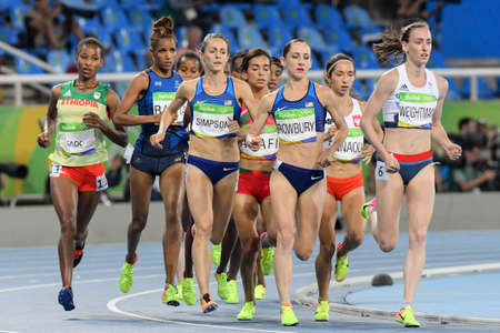 Rio de Janeiro, Brazil - august 16, 2016: Runner UGEN Lorraine (GBR)  during 1500m Womens run in the Rio 2016 Olympics