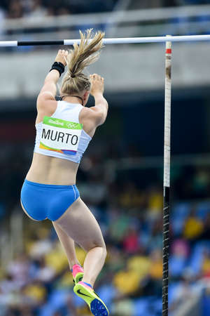 janeiro: Rio de Janeiro, Brazil - august 16, 2016: MURTO Wilma (FIN) during Womens´s Pole Vault in the Rio 2016 Olympics Games
