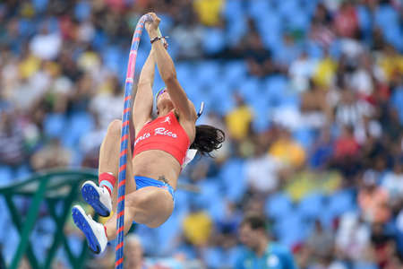 world championships: Rio de Janeiro, Brazil - august 16, 2016: PLANELL Diamara (PUR) during Womens´s Pole Vault in the Rio 2016 Olympics Games