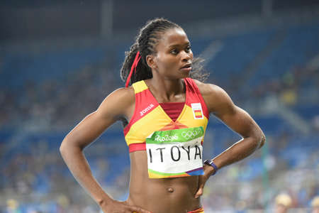 Rio de Janeiro, Brazil - august 16, 2016: ITOYA Juliet (ESP) during womens Long Jump in the Rio 2016 Olympics Games