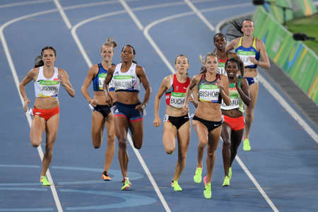 Rio de Janeiro, Brazil - august 18, 2016: Runner BISHOP Melissa (CAN) during 800m womens run in the Rio 2016 Olympics Games